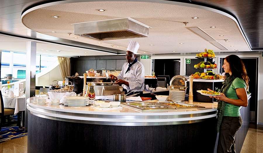 Pranzo a buffet nel Ristorante Panorama